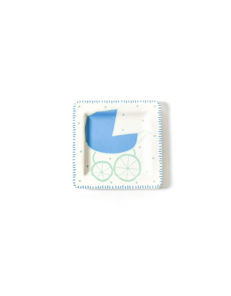 Coton Colors Baby Carriage 7.5 Square Plate Boy