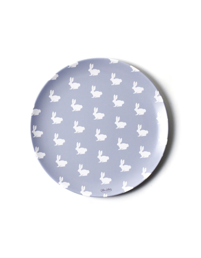 Coton Colors Rabbit 10 Melamine Dinner Plate Blue