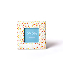 Coton Colors Small Dot Birthday 7 Square Frame Blue