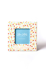 Coton Colors Small Dot Birthday 7 Square Frame Pink