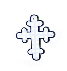 Coton Colors Gingham 10 Cross Blue