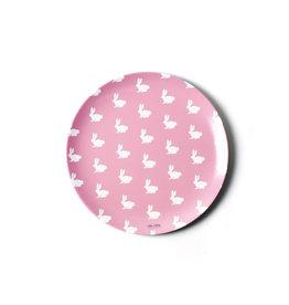 Coton Colors Rabbit 10 Melamine Dinner Plate Pink