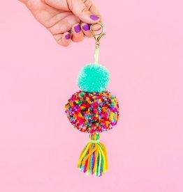 Taylor Elliott Designs Pom+Tassel Keychain