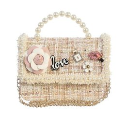 Dear Ellie Tweed Purse w/pearl handle