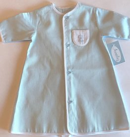 Auraluz Auraluz Pique Daygown Puppy Blue White 375b