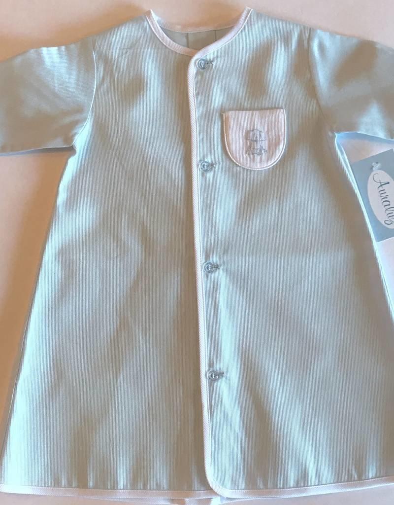 Auraluz Auraluz Pique Daygown Puppy Blue White 375b