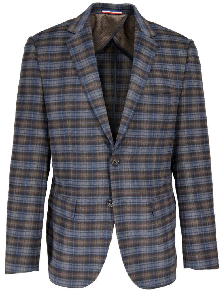 Daniel Hechter Daniel Hechter Blue Plaid Blazer - Michael s Menswear 64fcfc0b329