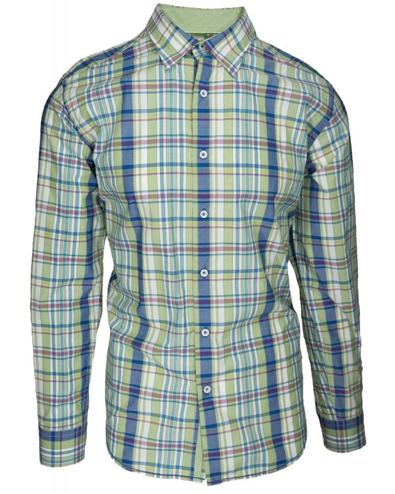 Alex Cannon Alex Cannon Green Plaid Sport Shirt