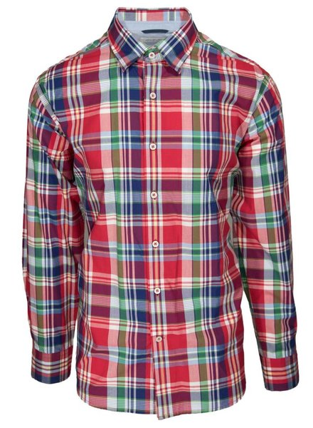 Alex Cannon Alex Cannon Red Plaid Sport Shirt
