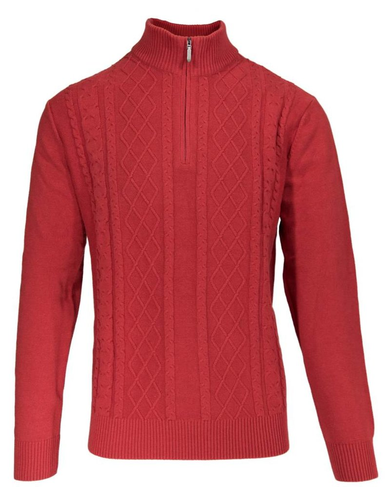 Alex Cannon Alex Cannon Red Cable Sweater-Large