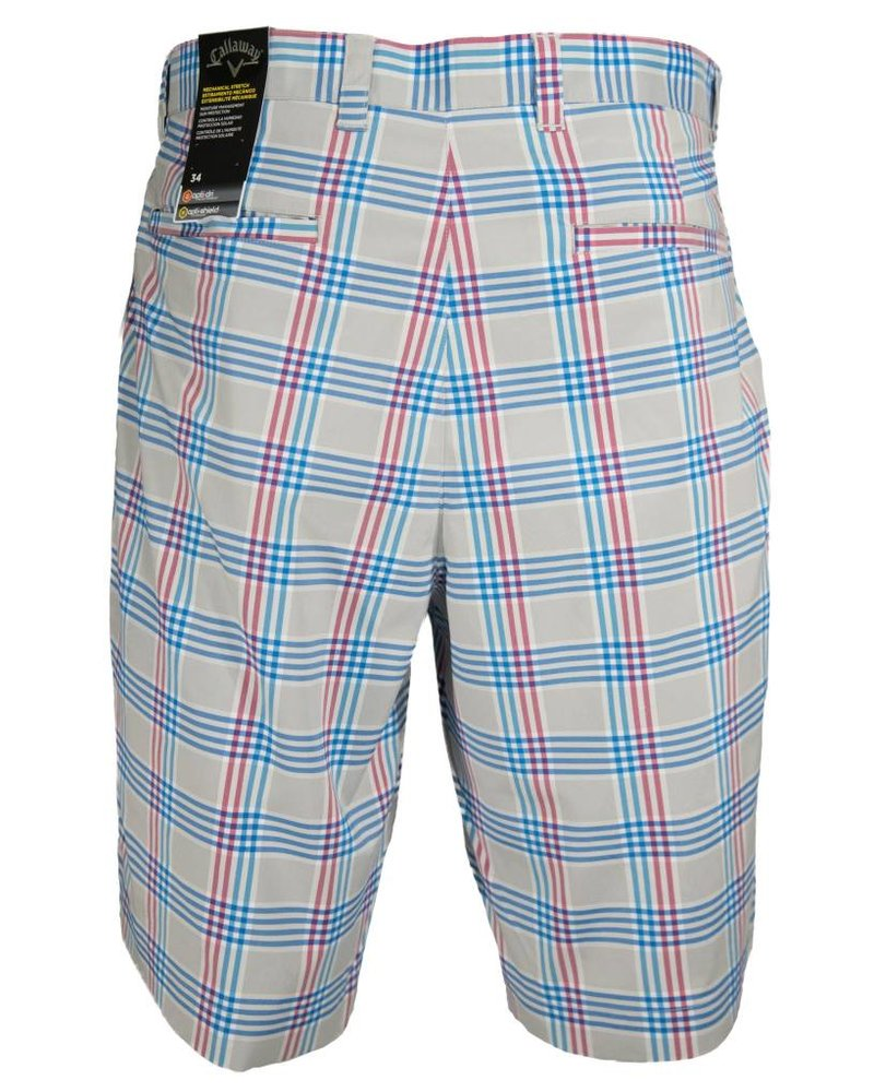 Callaway Callaway Slate Plaid Performance Golf Short