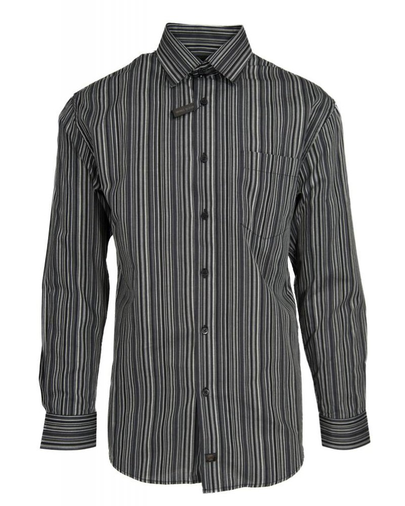 FX Fusion FX Fusion Black Stripe Dress Shirt