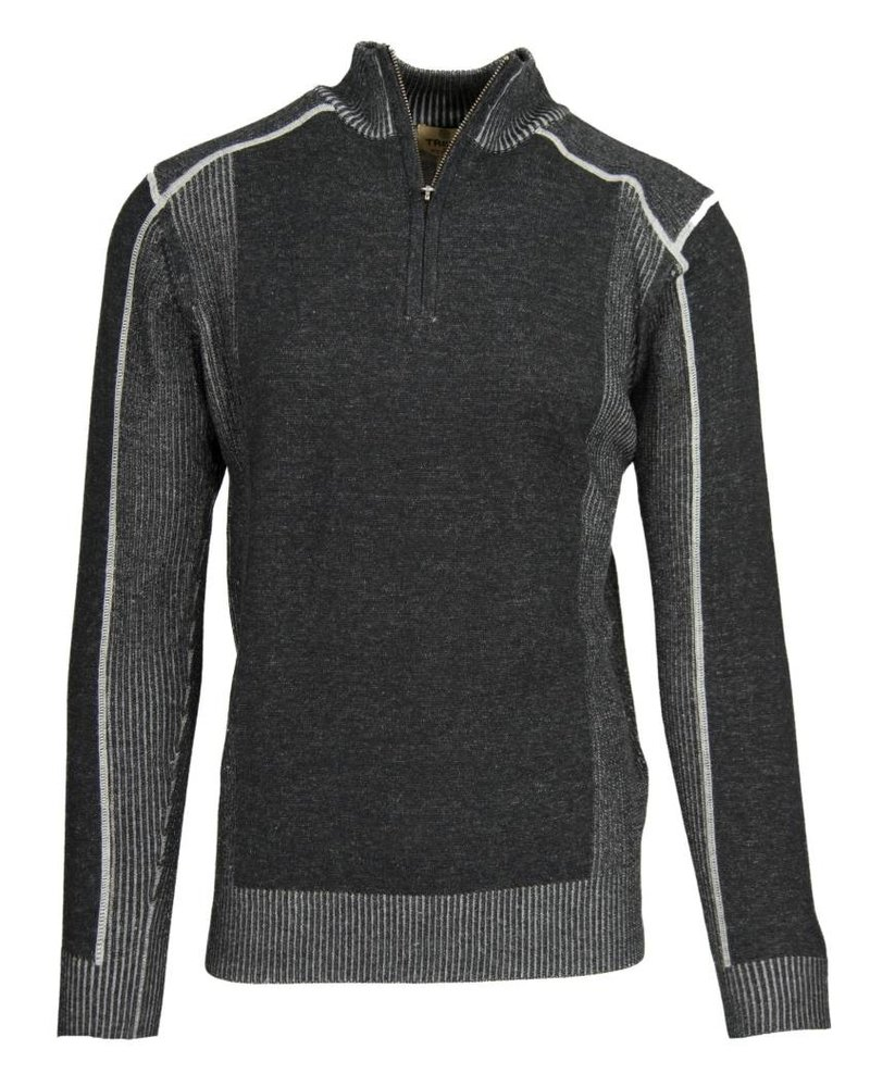 FX Fusion FX Fusion Charcoal Half Zip Sweater