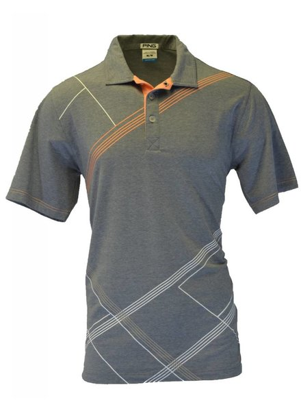 Ping Mens Medium Grey Golf Polo