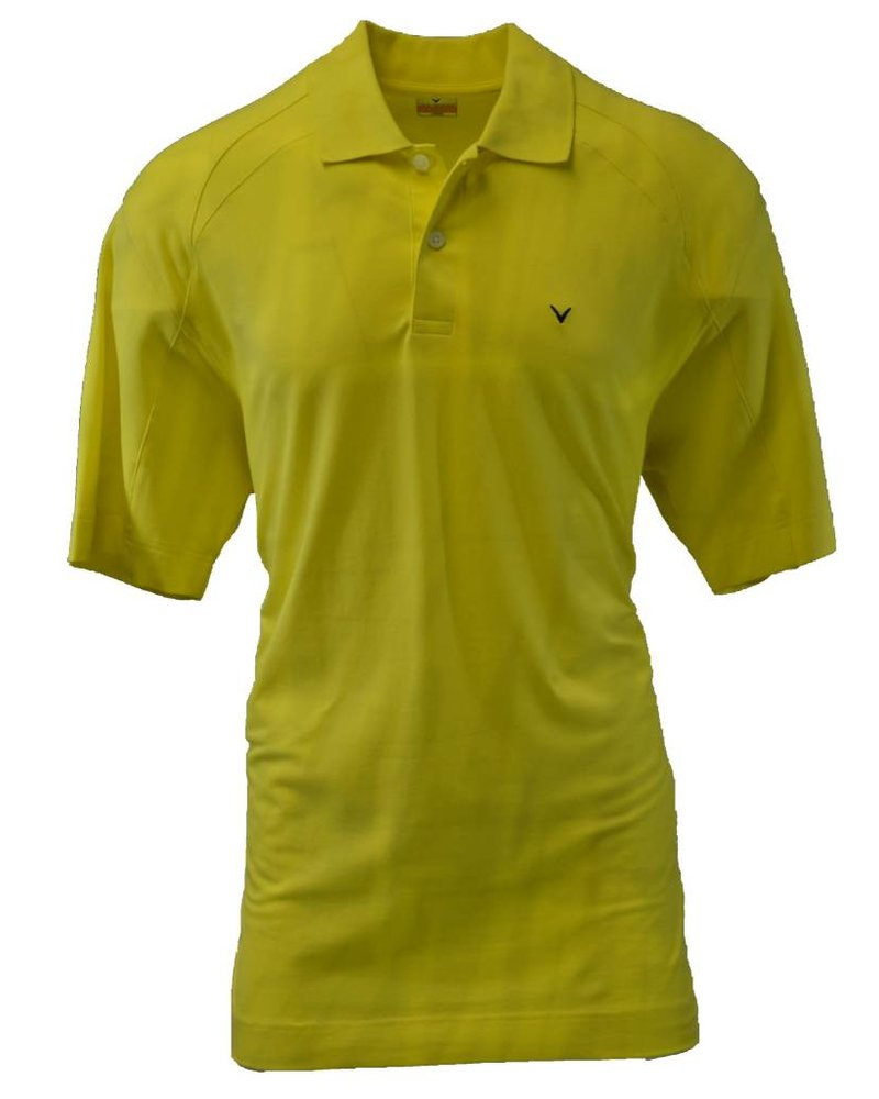 Callaway Callaway Large Yellow Cream Golf Polo