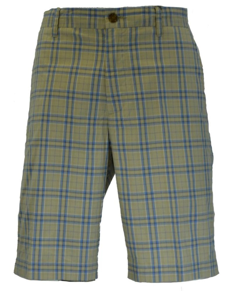 Alex Cannon Alex Cannon Men's Plaid Khaki Shorts