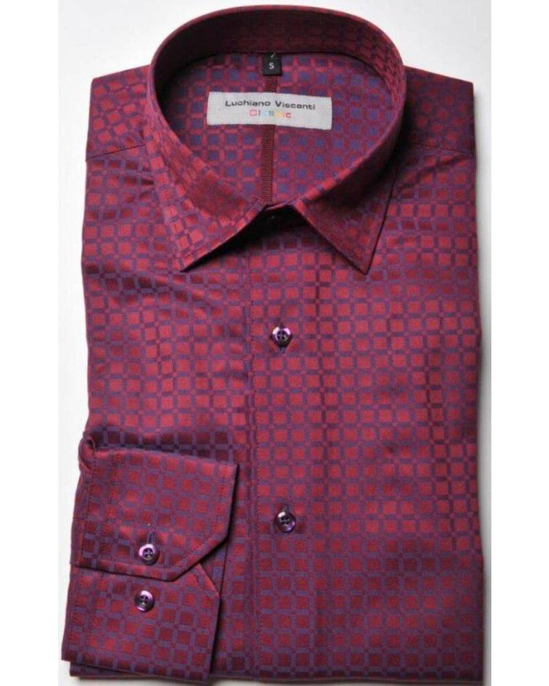 Luchiano VIsconti Luchiano Visconti Red & Blue Fancy LS Shirt