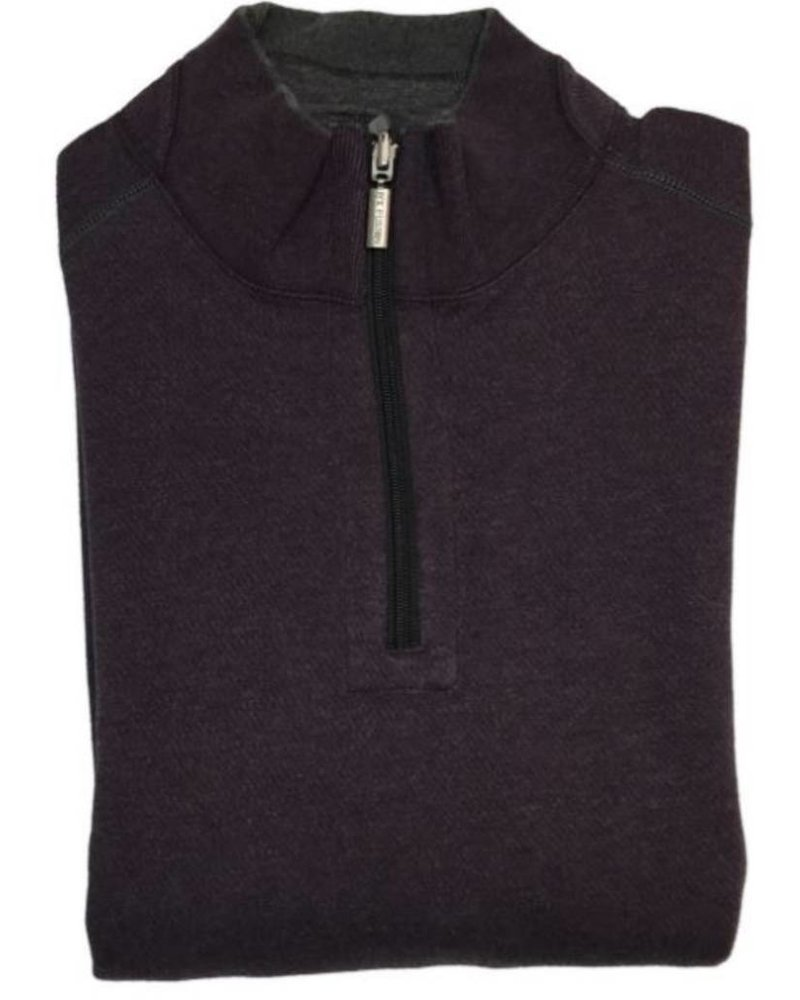 FX Fusion FX Fusion Big & Tall 1/4 Zip Solid Reversible Sweater