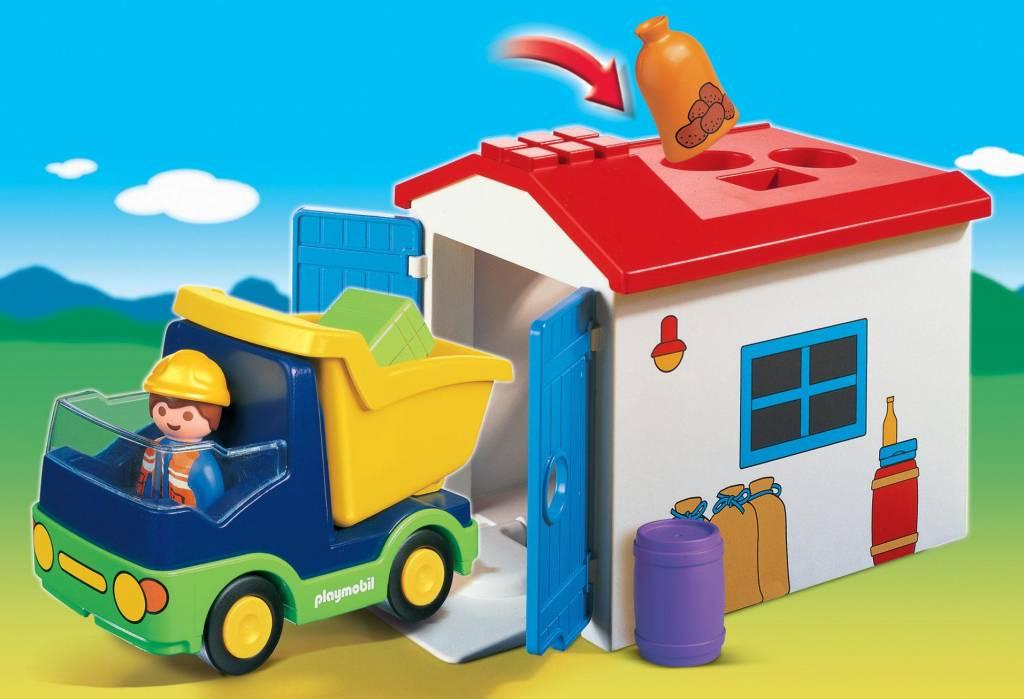 Playmobil 1.2.3 Playmobil 1.2.3. Truck with Garage