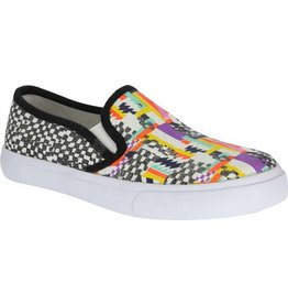 Nina Nina Slip-On Sneaker Evetta Multi Cotton Canvas