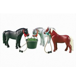 Playmobil Playmobil 3 Ponies with Feeding Bucket