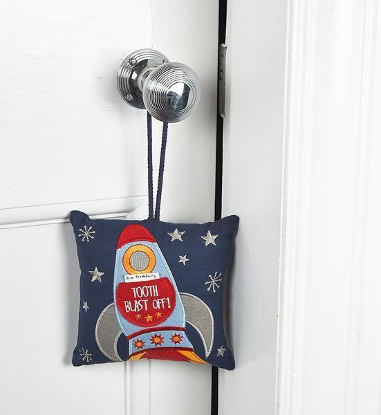 Floss & Rock Floss & Rock Tooth Fairy Cushion - Rocket