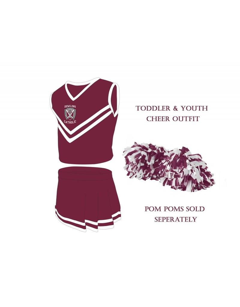 Little King Toddler/Youth Cheerleading Outfit