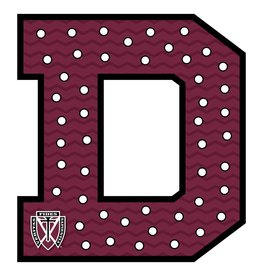 Maroon Spirit Decor Sign