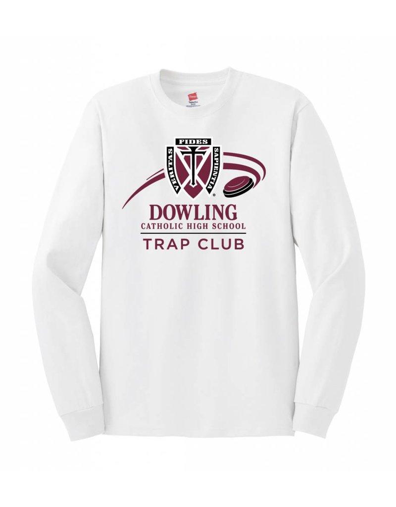 Hane's Trap Club White Hanes Tee - L/S