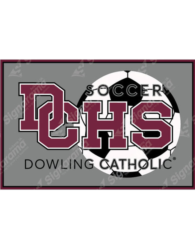 Accessories Dowling Catholic Car Decal Soccer