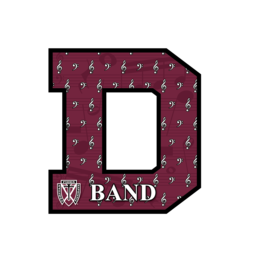 Accessories Maroon Spirit Decor Sign - BAND