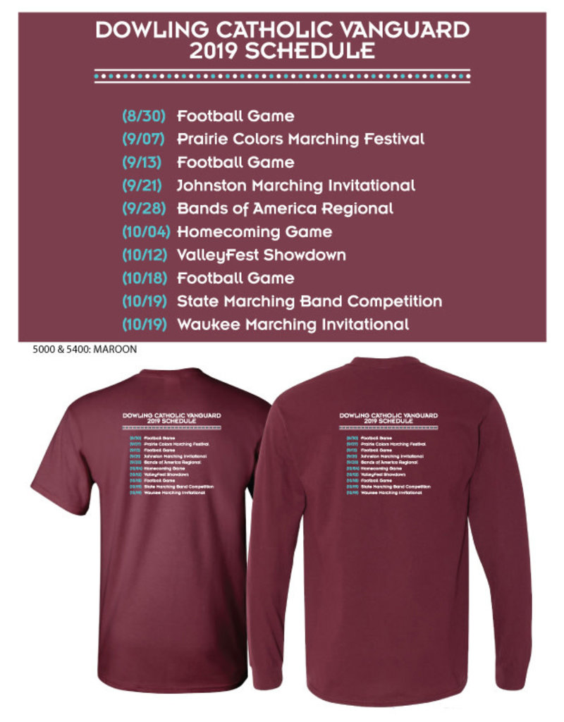 Gildan Band 2019 Show Shirt Long Sleeve