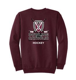 Port & Co. Hockey Crew Neck Sweatshirt
