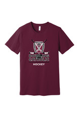 Bella Canvas Hockey Short Sleeve Unisex Tee