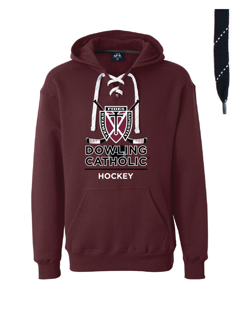 JAmerica Hockey Custom Lace Hooded Sweatshirt