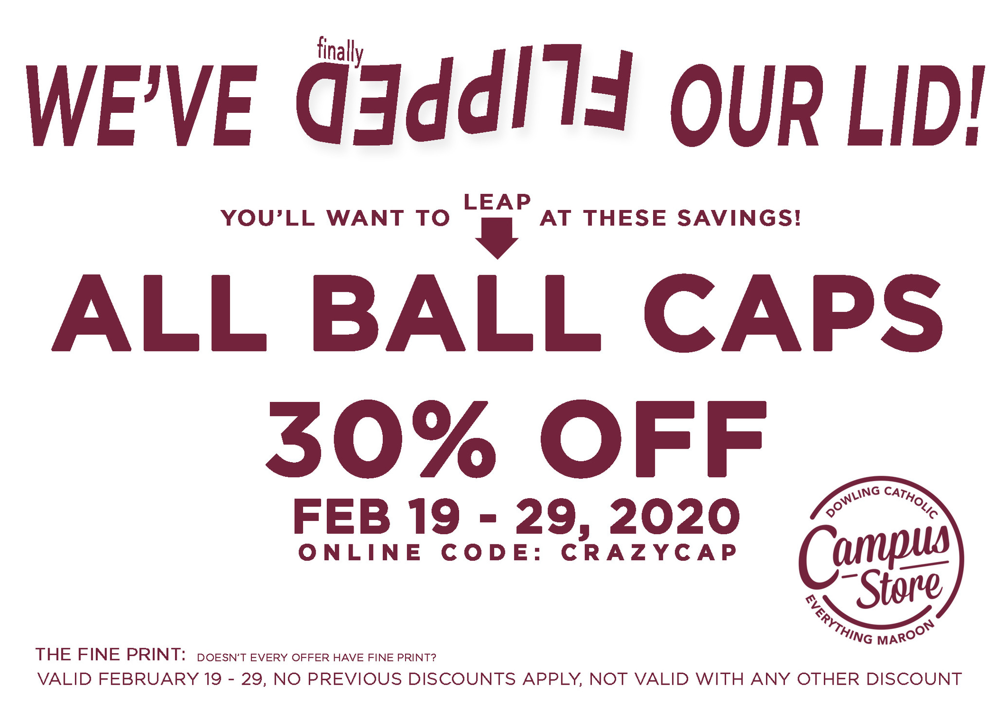 Ball Cap Sale