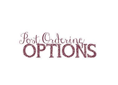School Uniforms - Post Order Period Options