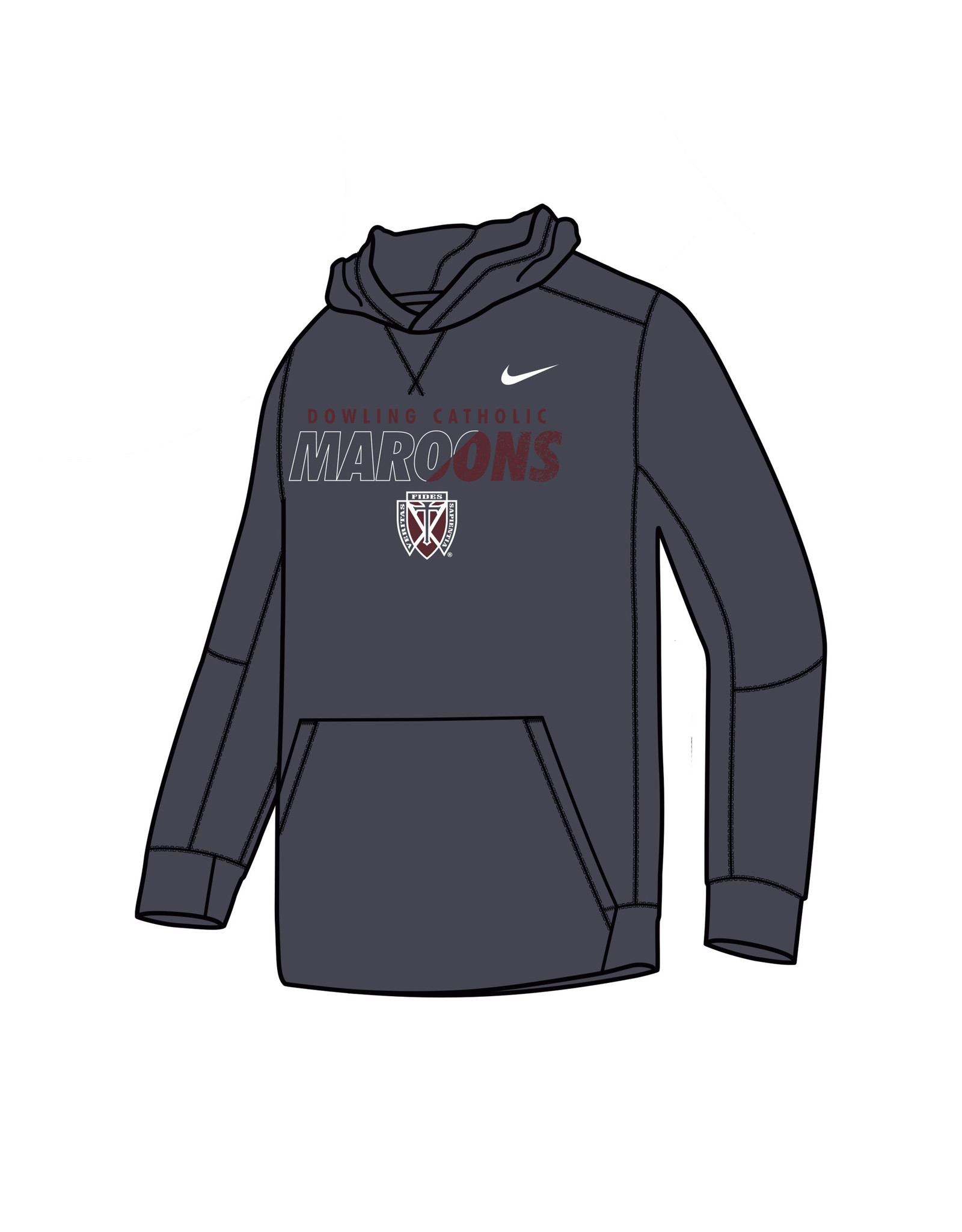 Nike Nike Youth Therma Pullover Hoody