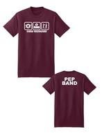 Hane's 2021 Vanguard  PEP BAND  Eat, Sleep, March Short Sleeve Shirt