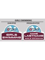 2021 Girls Swimming Yard Sign