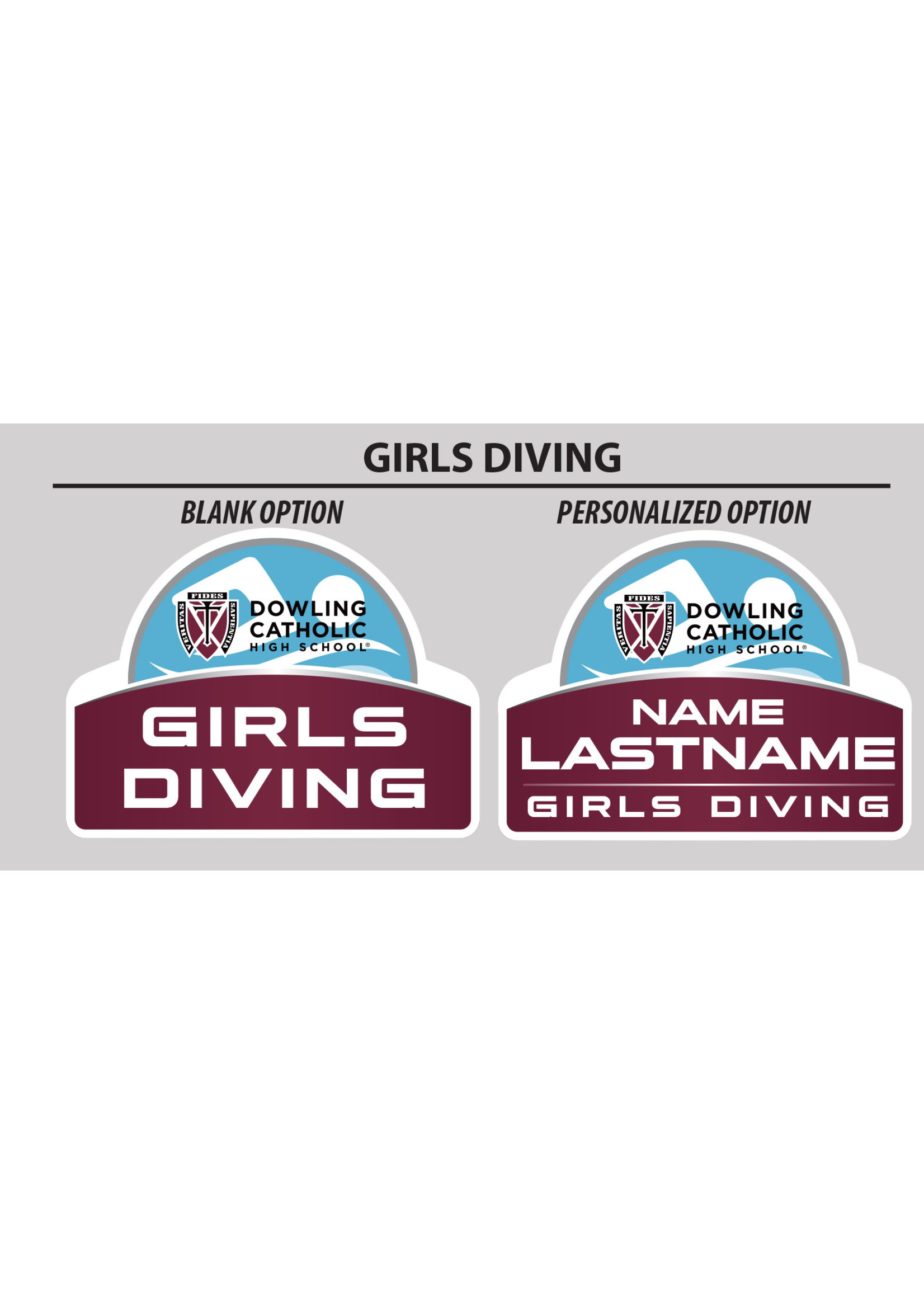 2021 Girls Diving Yard Sign