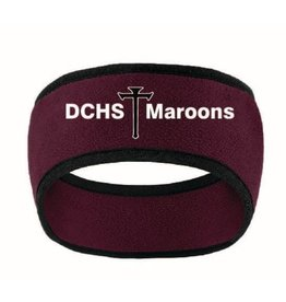 Port Authority Fleece Headband - Maroon/Black