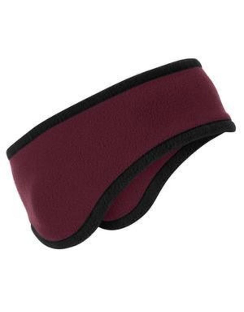 Port Authority Fleece Headband - Maroon/Black