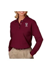 Blue Generation Women's Long Sleeve Cotton Polo - ONLINE