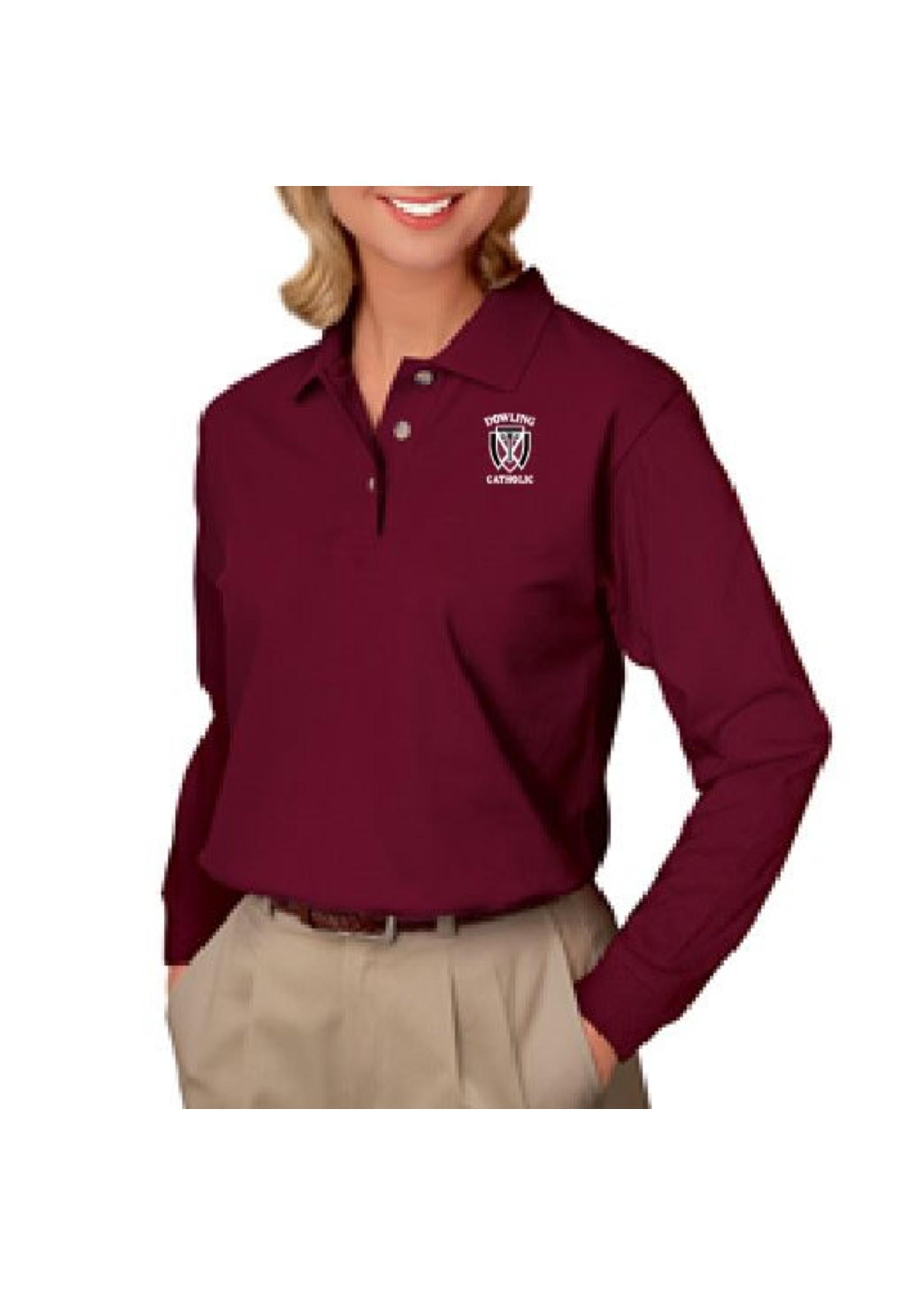 Blue Generation Women's Long Sleeve Cotton Polo - ONLINE