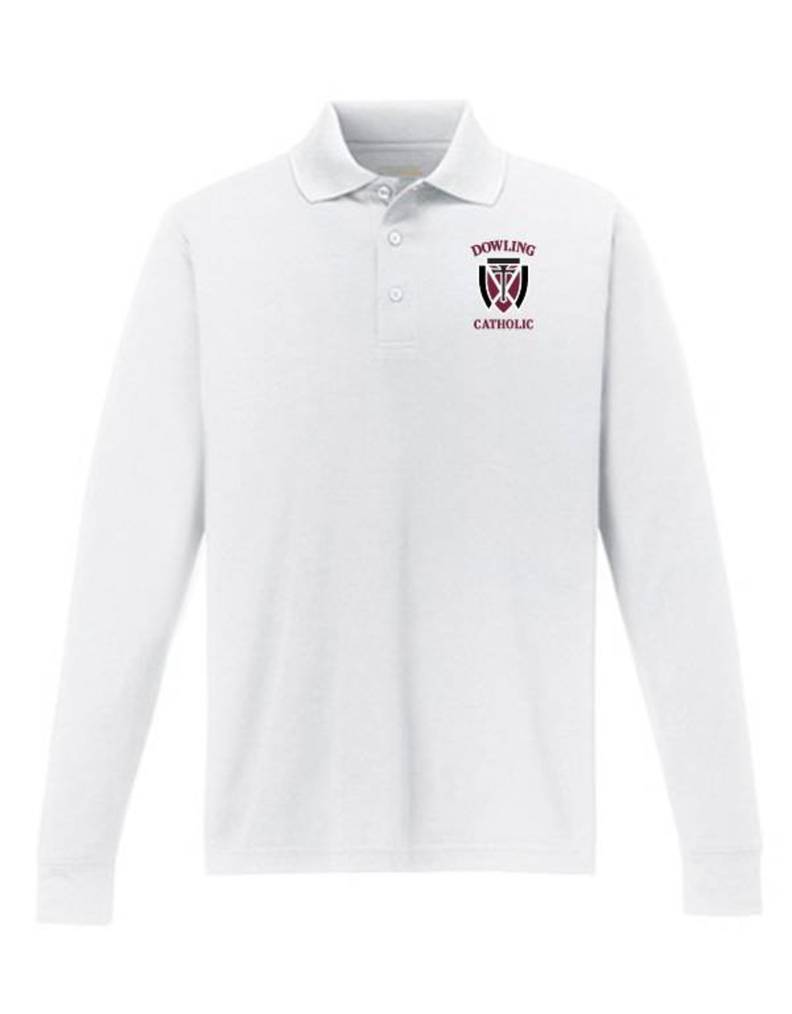 Core Men's Long Sleeve Performance Polo - ONLINE