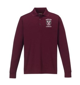 Core EXTENDED Men's Long Sleeve Performance Polo Extended Sizes - ONLINE