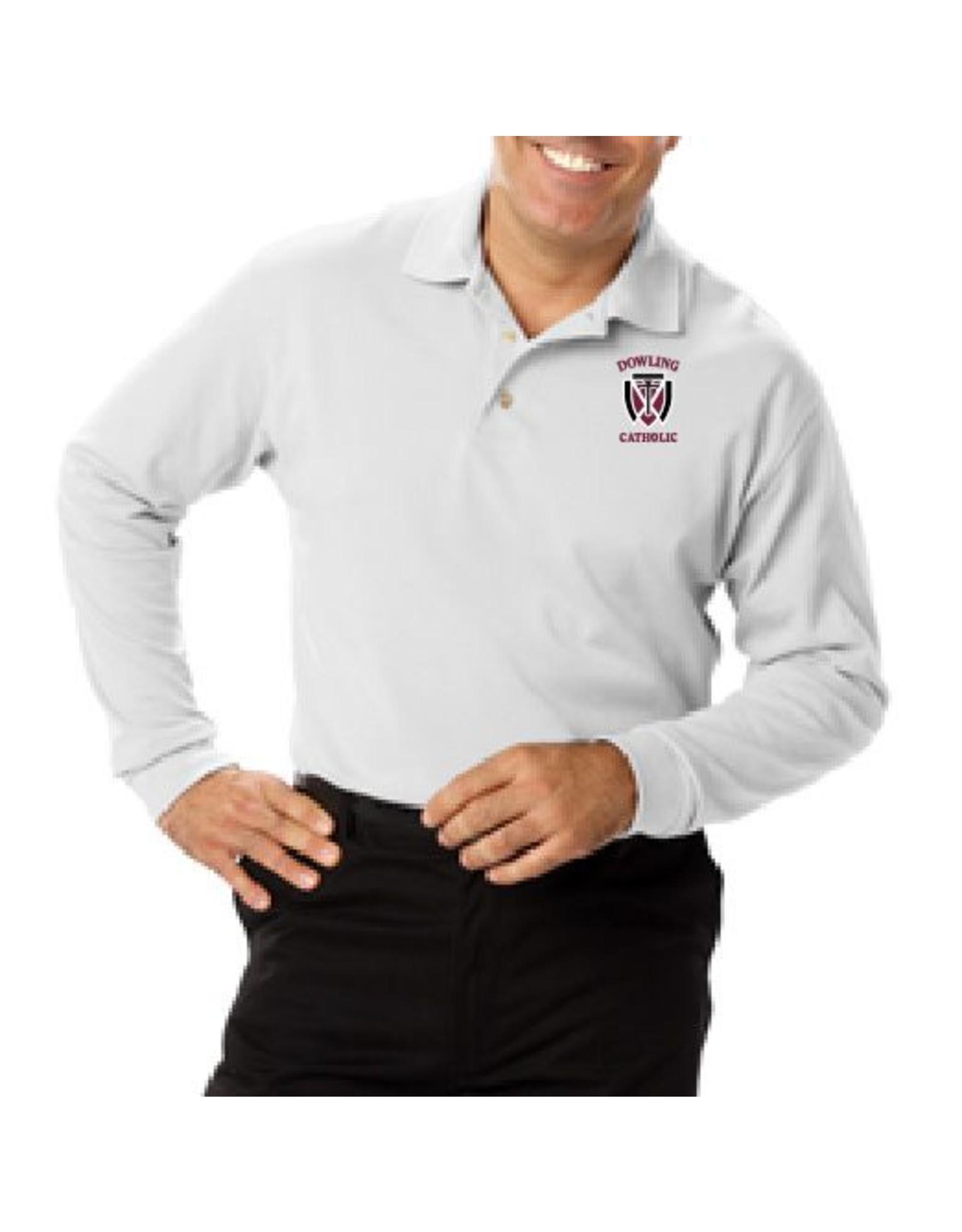 Blue Generation Men's Long Sleeve Cotton Polo - ONLINE