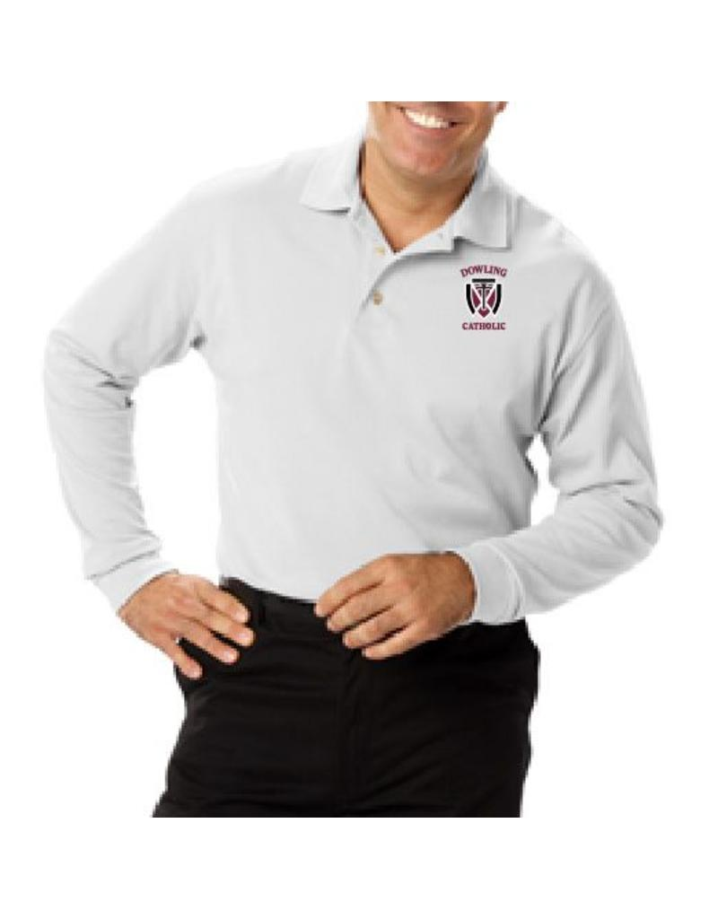Blue Generation Men's Long Sleeve Cotton Polo - ONLINE