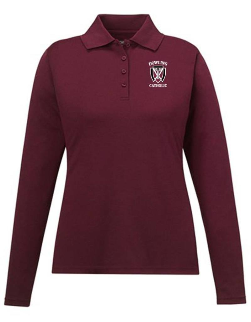 Core Women s Long Sleeve Performance Polo EXTENDED SIZES - ONLINE ... dbc64f5c03